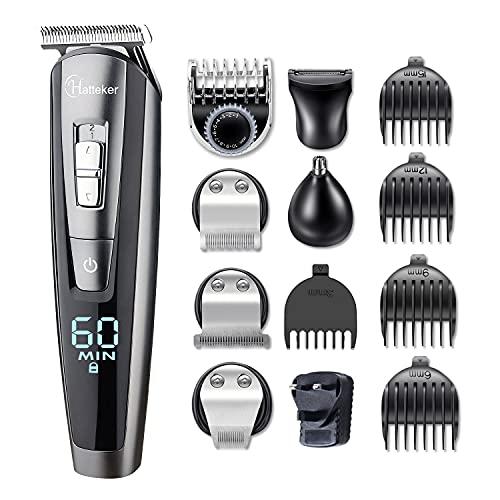 Hatteker Beard Trimmer Hair Clipper Hair Trimmer Clippers for Men Cordless...