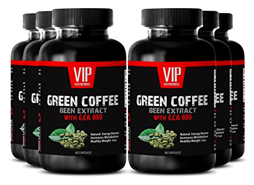 Raspberry Ketones dropes - Green Coffee Bean Extract with GCA 800 - Best Weight Loss Supplements for Women (6 Bottles - 360 Capsules)