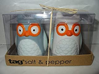 3-d Figural Owl Salt and Pepper Shakers Set Hand Painted By TAG by TAG