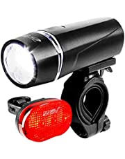 Deal on BV Bicycle Light Set Super Bright 5 LED Headlight, 3 LED Taillight, Quick-Release