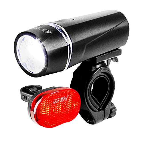 BV Bicycle Light Set Super Bright 5 LED Headlight, 3 LED Taillight, Quick-Release Arizona