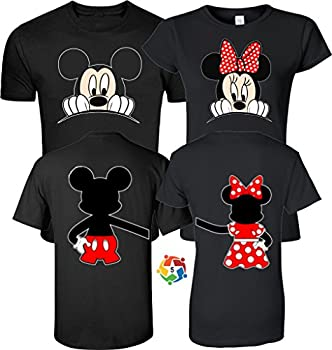 Mickey & Minnie Valentine s Love Couples Cute Matching Shirts Black