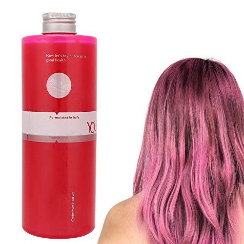 500ml Rose Long Lasing Hair Dye Cream, Mild Semi Permanent Hair Color Cream Hairdressing Color Tool for Professional Hair Salons and Home Use(500 ml)