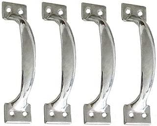 Mike Home Hardware Tools Metal Galvanized Bow Door Handle Classic Style Furniture Kitchen Utensils Drawer Door Handle 10 Pcs (Large)