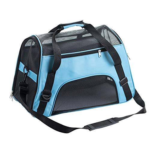 SOGREAT Haustiertasche Tragetasche Reisetasche mit Reißverschluss Oxford wasserdichte Faltbare Reisebox für Hunde, Katzen, alle kleinen Haustiere Atmungsaktive Transporttasche