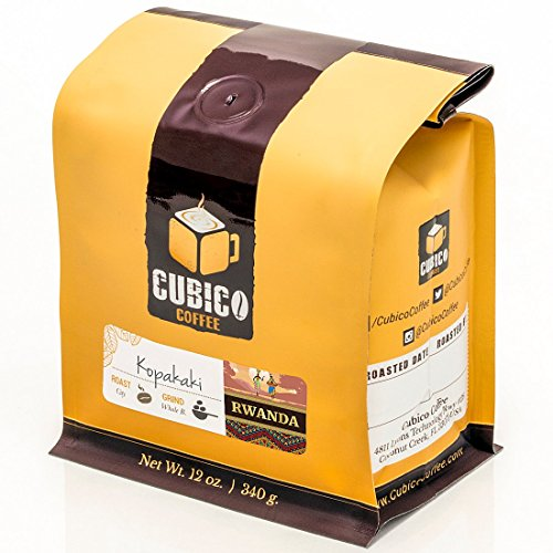 Rwanda Kopakaki Coffee - Ground Coffee - Freshly Roasted Coffee - Cubico Coffee - 12 Ounce (Single Origin Rwandan coffee)