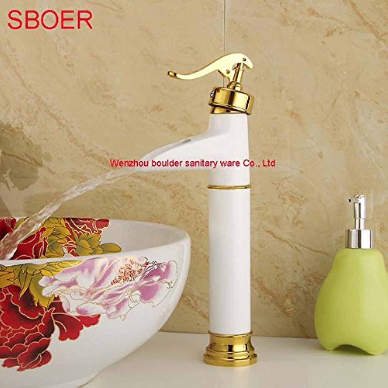 Jduskfl Faucet Kitchen Faucet Net Faucet Bathroom Faucet Faucet Faucet Free Shipping Luxurious Basin Tap Exclusive Design Faucet Pop Bathroom Single Handle Copper F-6092,Long White 734e47
