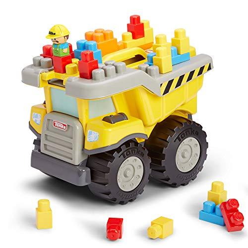 Tonka Dump Truck and Building Blocks Set 25 Piece Tow 'N Go