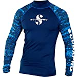 Scubapro men's rash guard 5 stylish skin protection increases comfort during warm water dives and surface fun. Up 50 rating blocks 98% of uv radiation. High quality polyester offers nice hand feel and provides good color fastness – especially in the lighter colors.