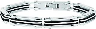 Sector No Limits Bracciale da uomo, Collezione ENERGY, lunghezza 21,5 cm, in acciaio e PVD nero - SAFT22