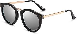 Polarized Cateye Sunglasses for Women Butterfly Diamond Arm Round Sunglasses Oversized Eyewear for Driving Beach PZ9612