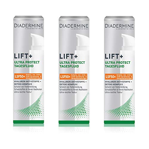 3 x Diadermine Lift+ Ultra Protect Tagesfluid je 40 ml LSF 50+ Normale Haut