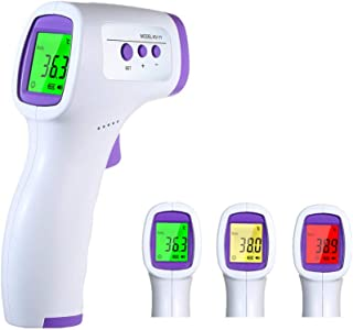 Touchless Digital Thermometer Medical Koogeek Infrared Forehead Thermometer for Adults Baby and Kids Non Contact Temperature Gun with Fever Alarm LED Display Screen 1Second Accurate Instant Reading