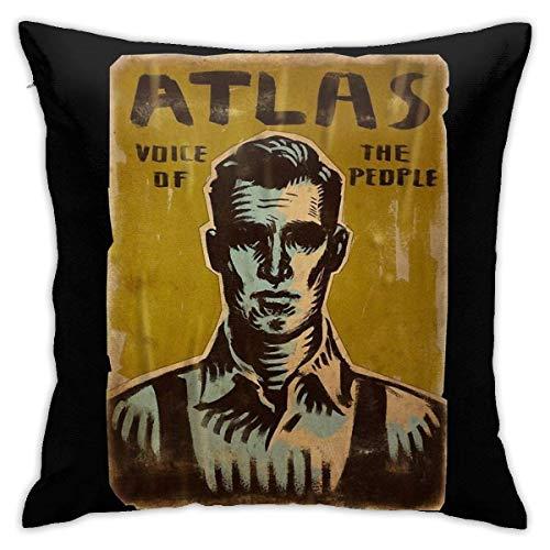 Wangtong Fundas de Cojines Bioshock - Atlas Linda Personalidad Decorativa Moda cojín de Cintura Funda de Almohada sofá de Coche decoración del hogar 18'x 18' Pulgadas (45 x 45 cm)