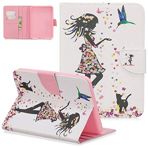 UGOcase - Funda para Kindle de 10ª generación 2019 (15,2 cm, función Atril), Color Blanco 03-Butterfly Girl