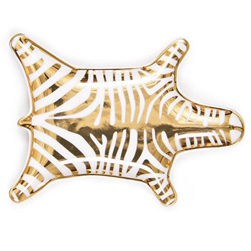 Jonathan Adler Women's Metallic Zebra Dish