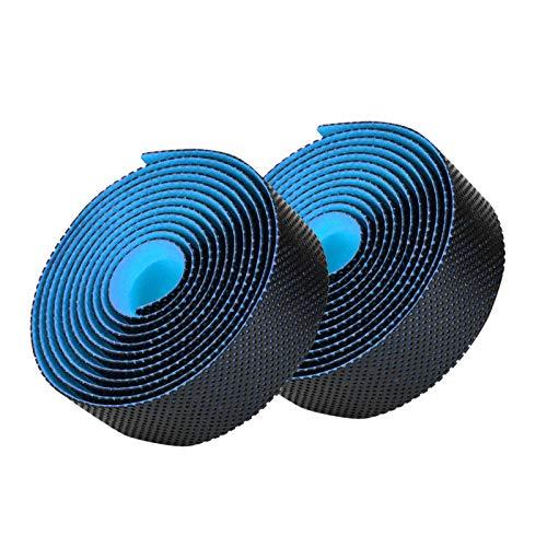 Wosune Cinturón de Manillar Suave, 216 * 3 * 0.3CM Cinta de dirección de Bicicleta, 4 Colores Absorción de Sudor EVA de Alta Elasticidad(Black Blue)