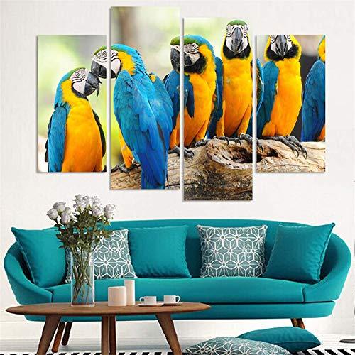 Neyouyou Image - Beeld gedrukt op vliesdoek - Muurfoto - Foto - 4 stuks - Geen frame - vogel 100X160cm