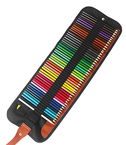 50 Piece Artist Grade Color Pencils Set with Pencil Sharpener