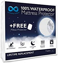 Everlasting Comfort Waterproof Twin Size Mattress Protector with 2 Pillow Protectors