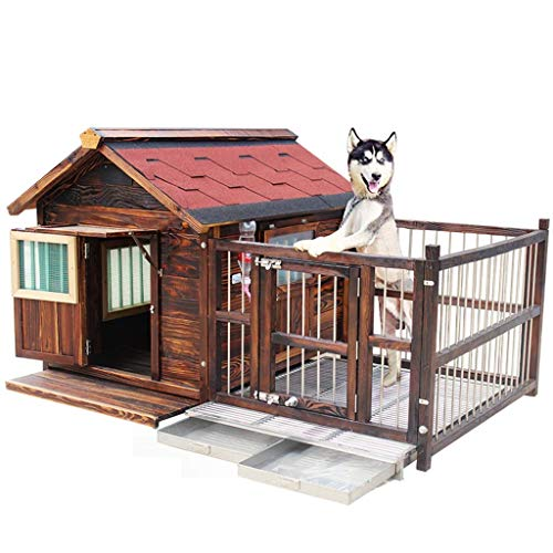 Jaula para perros Caseta para perros de madera para exteriores Casa para perros grande impermeable y lavable Casa para perros de interior Gato conejillo de indias Casa para cachorros Repelente de mo