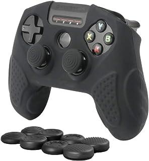 CHIN FAI para SteelSeries Nimbus Bluetooth Mobile Gaming Controller Funda con diseño de funda de piel con 8 dedos (Negro)