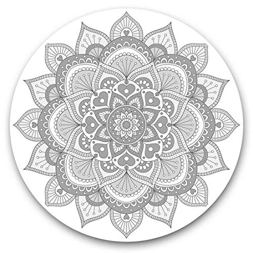 Awesome Vinyl Stickers (Set of 2) 7.5cm (bw) - Indian Mandala Boho Yoga Fun Decals for Laptops,Tablets,Luggage,Scrap Booking,Fridges,Cool Gift #37931