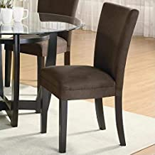 Bloomfield Microfiber Parson Side Chairs Cappuccino and Chocolate (Set of 2)