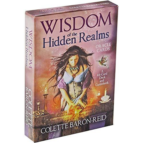 YOYOTECH Wisdom of The Hidden Realms Versión Completa en inglés Tarot Deck con EGuide Book Einstruction Card Games Adivination Games Set Destiny Forecast Game Card