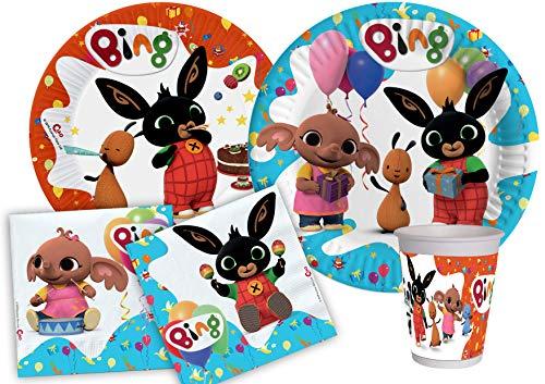 Ciao-Kit Party Tavola Bing persone (112 pezzi Ø23cm, piatti Ø20cm, 24 bicchieri, 40 tovaglioli 33x33cm) Festa, Single, Multicolore, Y5017