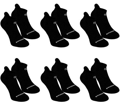 Brubaker 6er Pack Sneaker Funktionssocken mit weicher Fersenlasche für Sport, Running, Mountainbiking