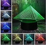 Musee Du Louvre Luxury 3D Pyramid Usb Led Night Light 7 Colores Change Touch Kid Dormitorio Mesa Lámpara De Escritorio Lightgift