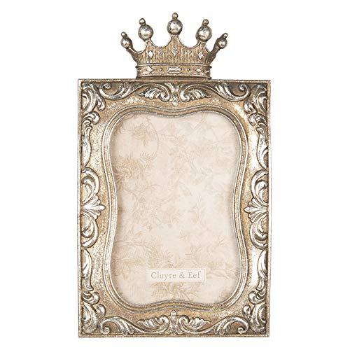 Clayre und Eef Fotorahmen Bilderrahmen Rahmen 14 * 1 * 24 cm / 10 * 15 cm Antik Gold Polyresin 2F0598
