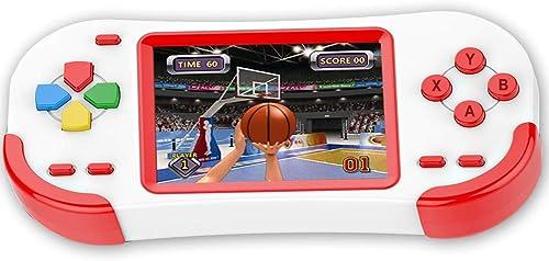 Bornkid Console de Jeu Portable 16 Bits pour Enfants Adultes avec Jeu de Puzzle Intégré 220 HD 3,0'' Grand Écran pour...