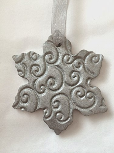 Snowflake Diffuser Ornament | Essential Oil Diffuser Ornament | Terracotta Passive Diffuser | Aromatherapy Stone | Christmas Ornament