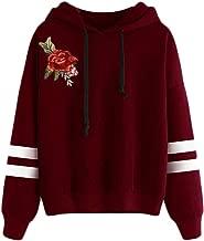 Comfy Women's Hood Slim Fitted Sweatshirt Drawstring Pullover