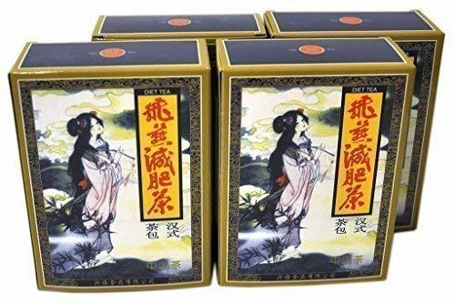 4 Paquetes Fei Yan Feiyan Té Adelgazante Perder Peso 80 Bolsas de Té