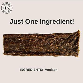 Bâtonnets à mâcher pour chiens – 100% naturels, viande de chevreuil séchée – Un seul ingrédient – 1 paquet = 7 bâtonnets à mâcher délicieux, sains, hypoallergéniques pour votre chien ou chiot (3 Pack)