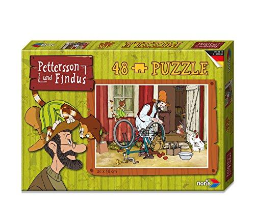 noris 606031343 - Pettersson Findus Fahrrad Puzzle, 48-teilig