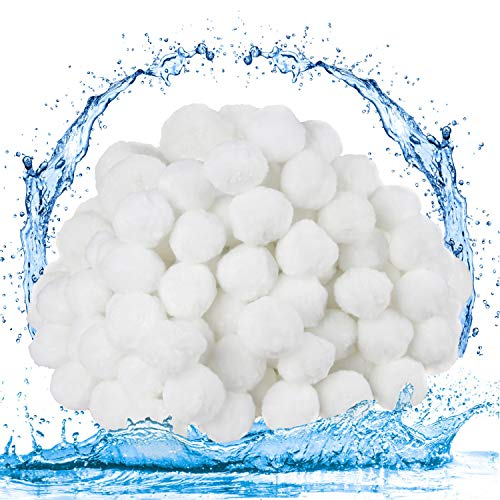 Aoligei Filter Balls 700g ersetzen 25 kg Filtersand, Filterbälle für Pool Sandfilter, Poolpumpe, Schwimmbad, Filterpumpe, Aquarium Sandfilter