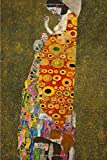 Hope, Gustav Klimt. Blank journal: 160 blank pages, 6 x 9 inch (15.24 x 22.86 cm) Soft cover