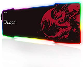 excovip RGB Dragon Mouse Pad - Juego extendido Mouse Pad XL