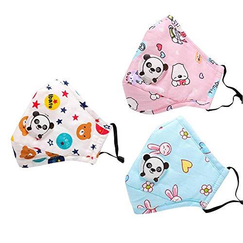 Kindermasken, Staubmasken, Filtermasken können hinzugefügt werden. Geeignet für Kinder von 3 bis 12 Jahren (3x gemischte Verpackung)