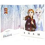 Disney Frozen 2 Calendario Joyería Infantil con Anna y Elsa, 24 Sorpresas Joyas para Niña, Incluye Collar Pulsera 22 Colgantes para Rellenar, Regalos Originales para Niñas 3+