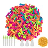 Water Balloons, 1400 Pack Water Balloons Bunch Refill Quick & Easy Kits, Assorted Colors Biodegradable Latex Summer Splash Water Balloon Toys with Hose Nozzles for Kids Adults