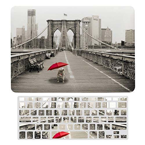 MacBook Air 13 Inch Case(A1369 & A1466, Older Version 2010-2017 Release), Plastic Hard Protective Laptop Case Shell with Keyboard Cover, Marty Mouse On The Brooklyn Bridge