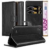 Cadorabo Funda Libro para LG X Power en Negro Grafito - Cubierta Proteccíon con Cierre Magnético, Tarjetero y Función de Suporte - Etui Case Cover Carcasa