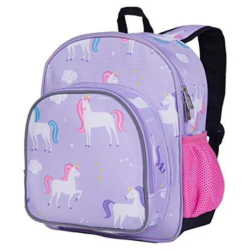 Wildkin 12 Inches Backpack for Toddlers, Boys and Girls, Ideal for Daycare, Preschool and Kindergarten, Perfect Size for School and Travel, Mom's Choice Award Winner, Olive Kids (Unicorn)