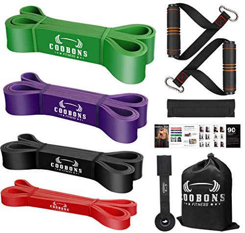 Resistance Bands with Handles - Exercise Bands Set for Door Anchor, Pull Up Assist Bands, Elastic Bands for Exercise, Physical Therapy, Home Workouts