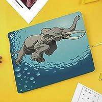 iPad Pro 10.5 ケース 軽量 薄型 スタンド オートスリープ機能 PUレザー 傷つき防止 二つ折タイプスマートカバー iPad 10.5インチ(モデル番号A1701 A1709)2017版専用海水ユーモア熱帯グラフィックでかわいい巨大な象の水泳